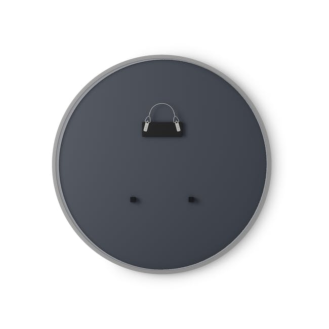 Hub Round Mirror 61 cm - Grey - 2