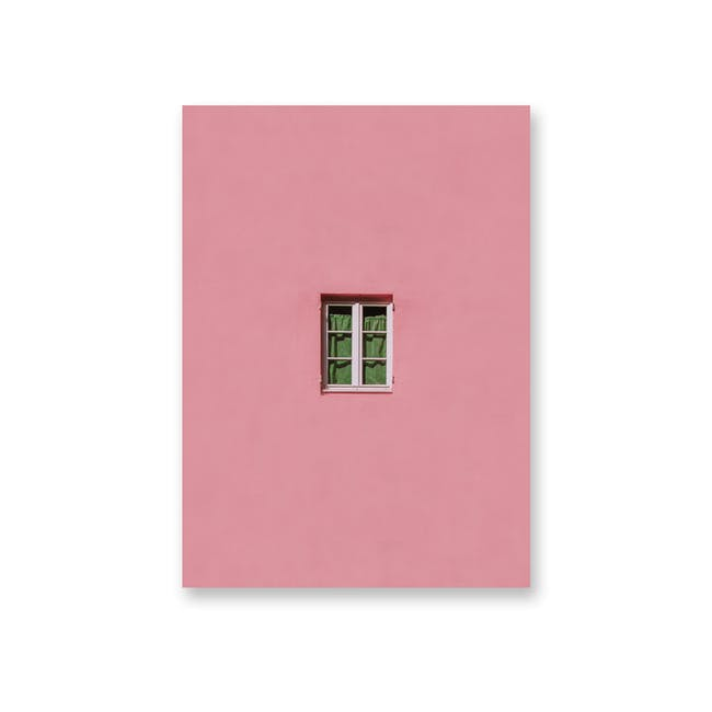 Borderless Minimalist Art Print on Paper (2 Sizes) - Pink Window - 0