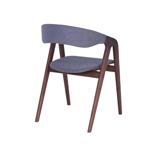 Helga - Ganit Dining Chair - Dim Grey, Walnut
