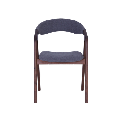 Ganit Dining Chair - Dim Grey, Walnut - Image 2