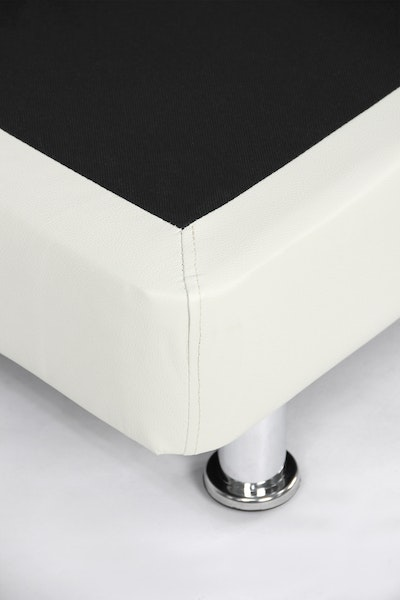 ESSENTIALS Divan Bed - White (Faux Leather) - Queen - 1 - Image 2