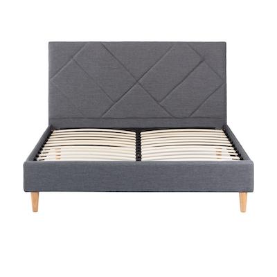 Evan Headboard Bed - Granite - 4 Sizes - Image 1