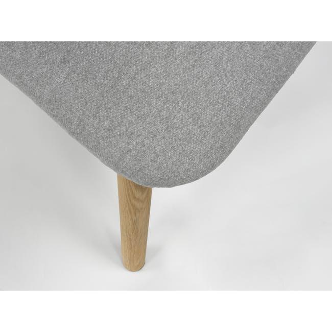 Runa Dining Armchair - Oak, Dolphin Grey - 9