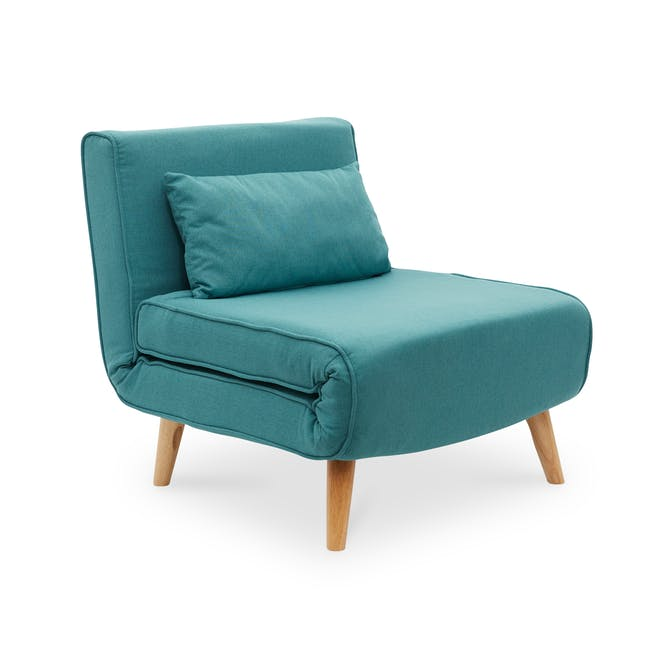 Noel 2 Seater Sofa Bed with Noel Sofa Bed - Teal - 10