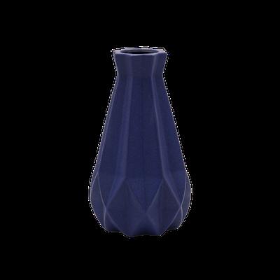 Theo Ceramic Vase - Navy - Image 1