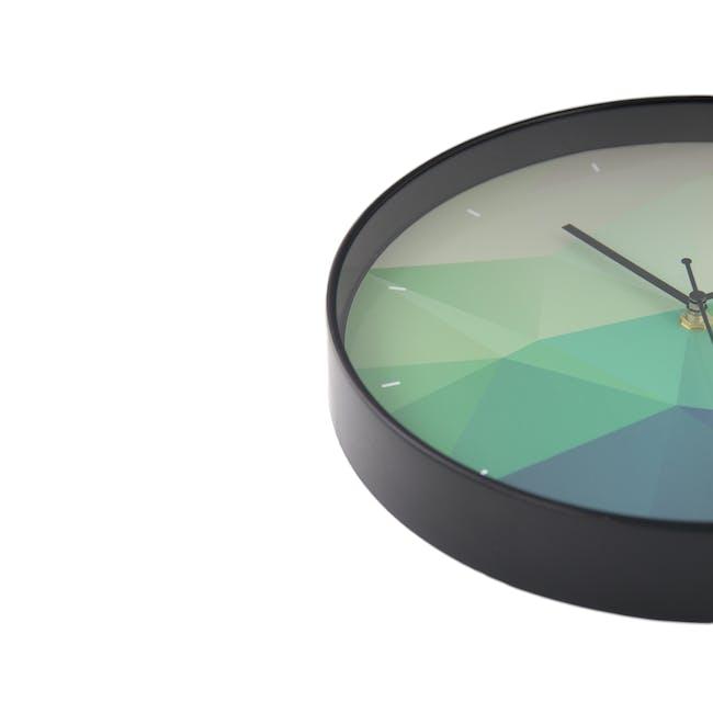 Teal Facet Wall Clock - 1
