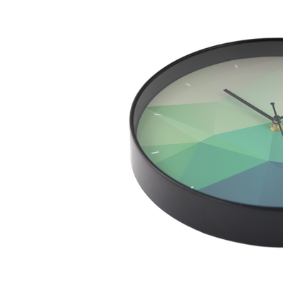 Teal Facet Wall Clock - Image 2