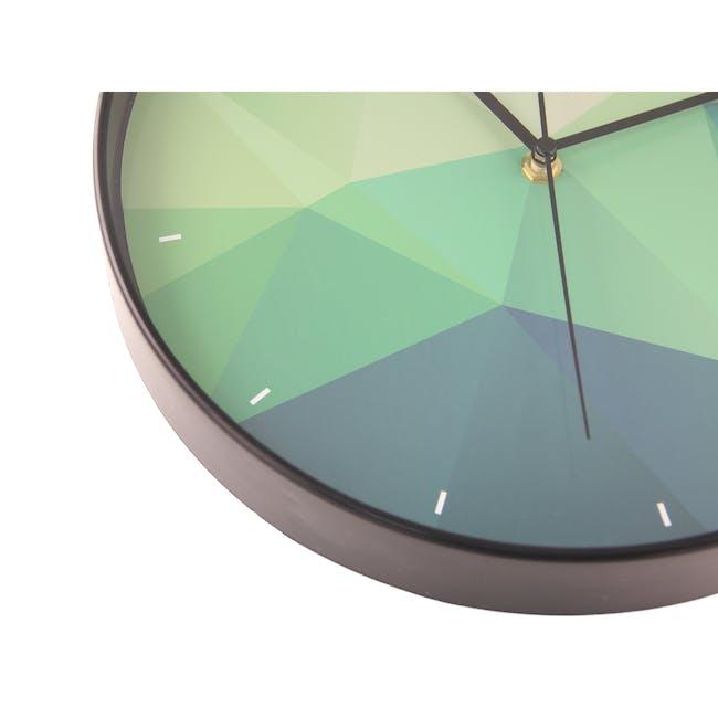 Teal Facet Wall Clock - 4