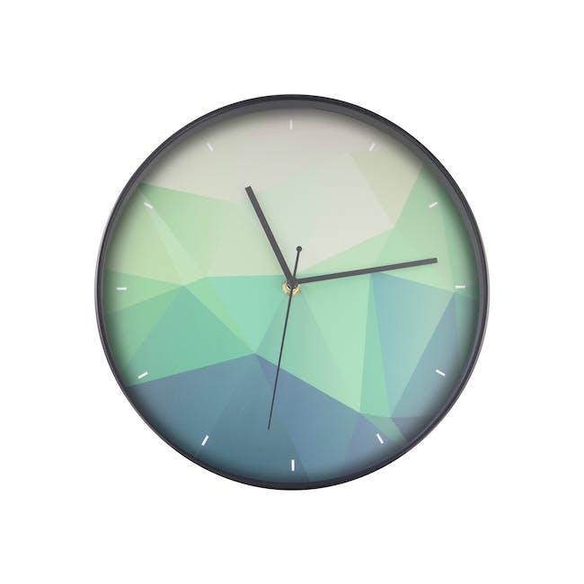 Teal Facet Wall Clock - 0