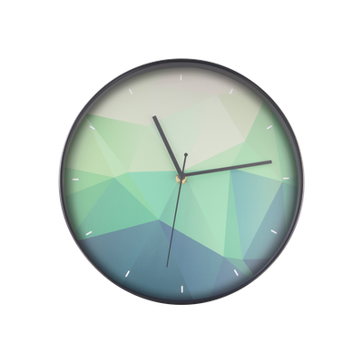 Teal Facet Wall Clock - Image 1