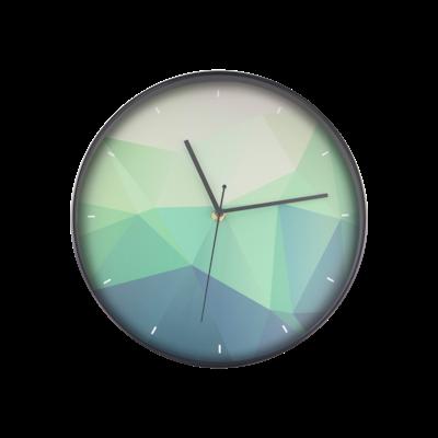 Teal Facet Wall Clock - Image 1
