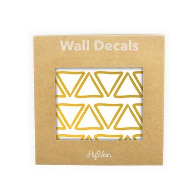 Doodle Triangle Wall Decal (Pack of 48) - Gold - Image 1