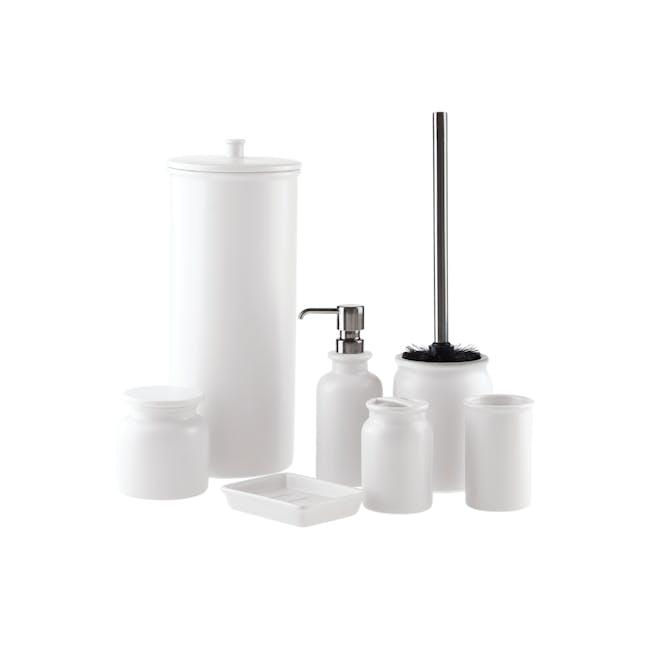 Marino Toilet Roll Holder - White - 1