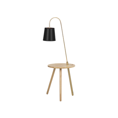 (As-is) Alonso Floor Lamp / Side Table - 7 - Image 1