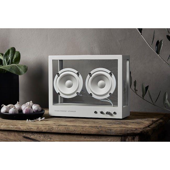 Small Transparent Speaker - White - 6