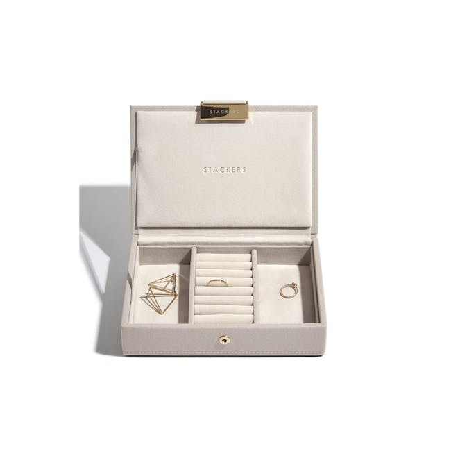Stackers Mini Jewellery Box with Lid - Taupe - 0