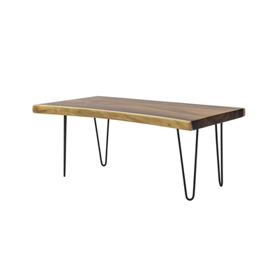 Frank Solid Suar Live Edge Coffee Table - 1m - Image 1