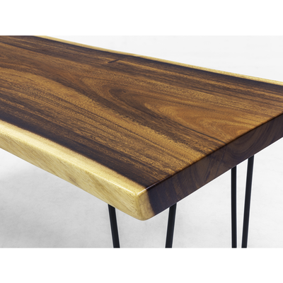 Frank Solid Suar Live Edge Coffee Table - 1m - Image 2