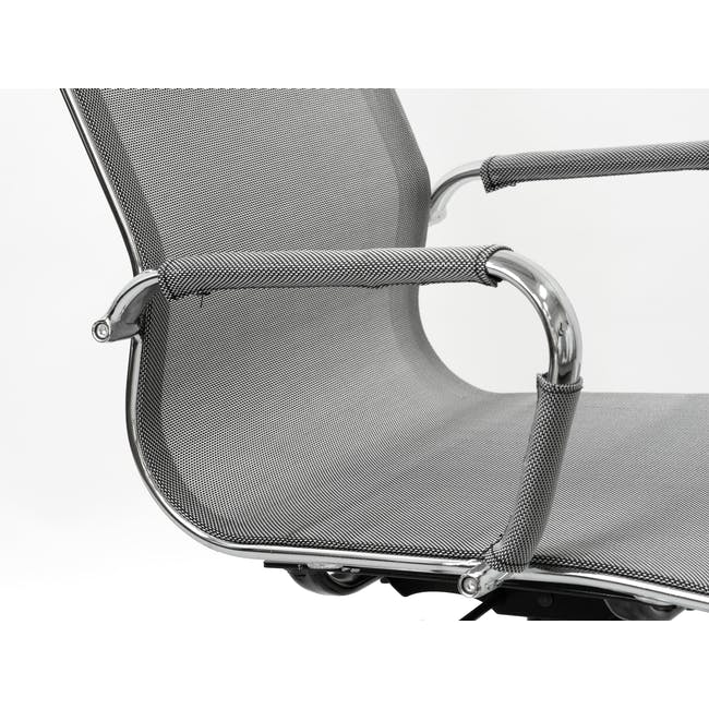 Eames Mid Back Mesh Office Chair Replica - Grey - 1