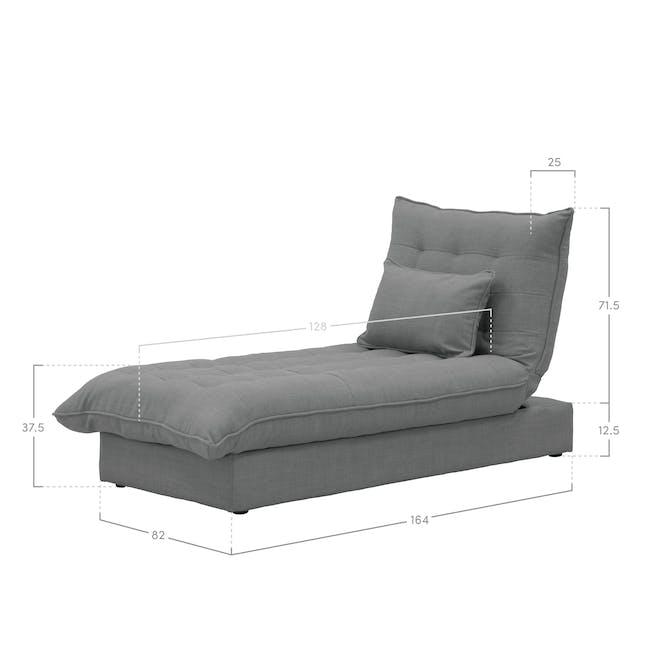Tessa Storage Lounge Bed - Pigeon Grey - 9