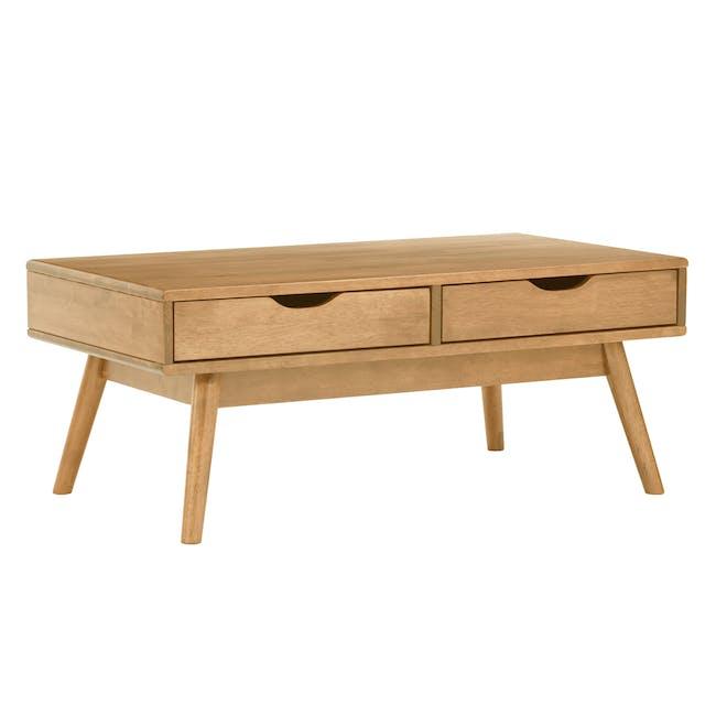 Lamar Twin Drawer Coffee Table - Oak - 1