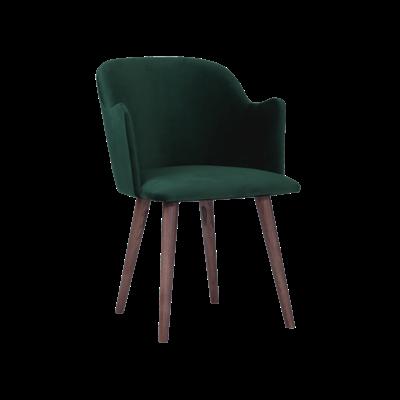 Anneli Dining Arm Chair - Walnut, Dark Green (Velvet) - Image 2