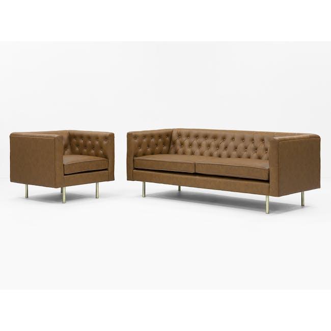 Cadencia Armchair - Tan (Faux Leather) - 10