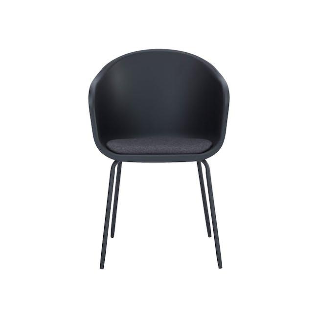 Rayner Dining Armchair - Matt Black, Black - 2