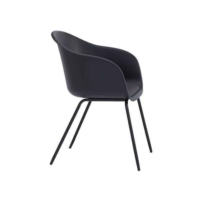 Rayner Dining Armchair - Matt Black, Black - 3