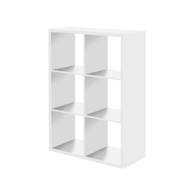 Taina 6 Shelving Unit - White - 0