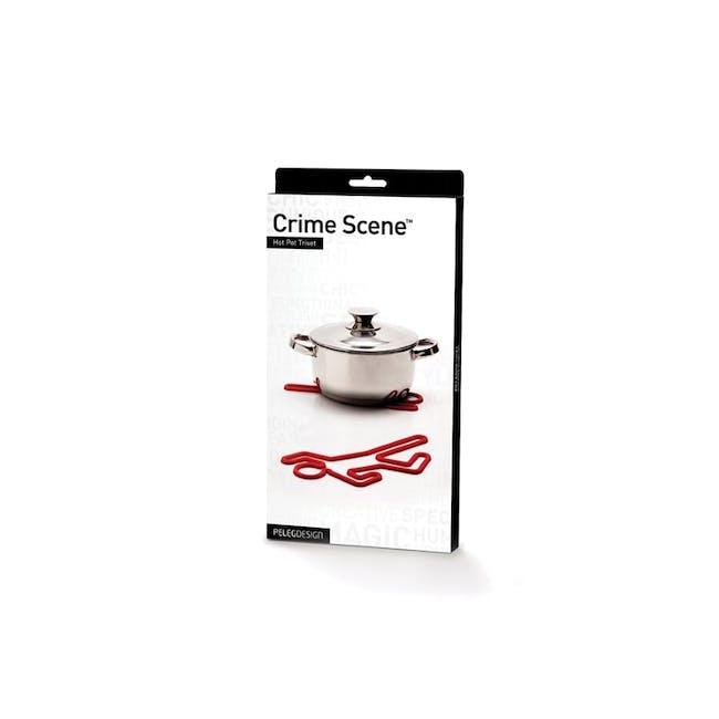 PELEG DESIGN Crime Scene Hot Pot Trivet - White - 3