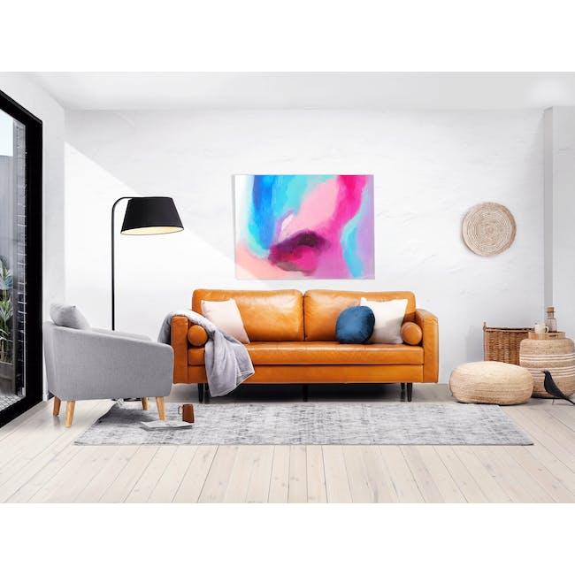 Nolan 3 Seater Sofa - Butterscotch (Premium Waxed Leather) - 1