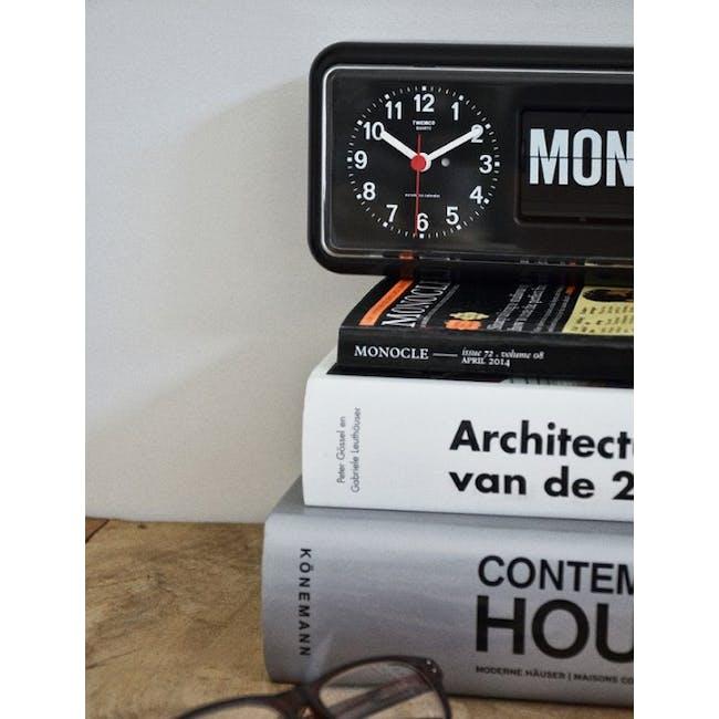 TWEMCO Calendar Flip Wall/Counter Clock - Black - 2