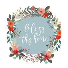 Bless This Home Canvas Art Print