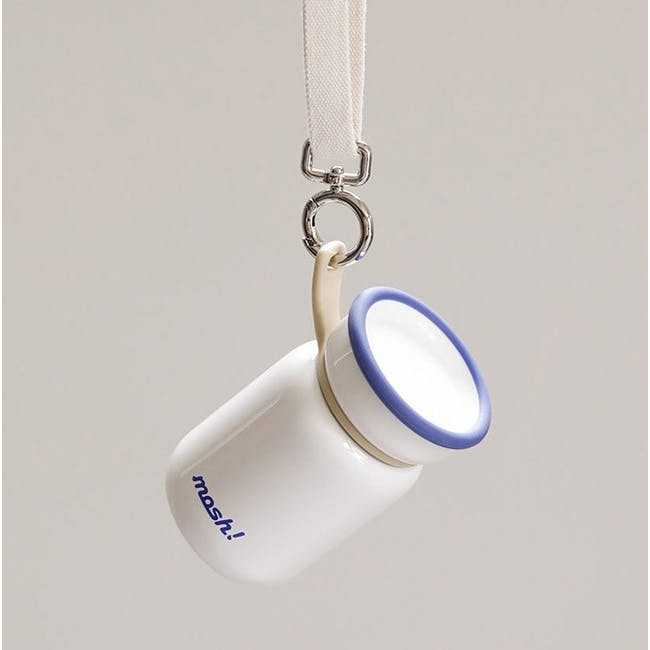 MOSH! Mini Latte Bottle 200ml - White - 1