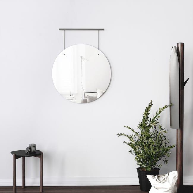 Exhibit Suspended Mirror 61 cm - Black - 6