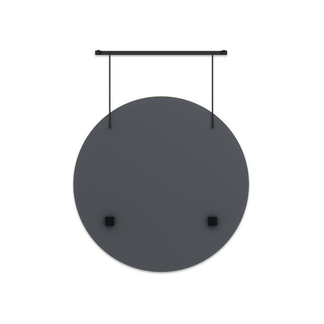 Exhibit Suspended Mirror 61 cm - Black - 4