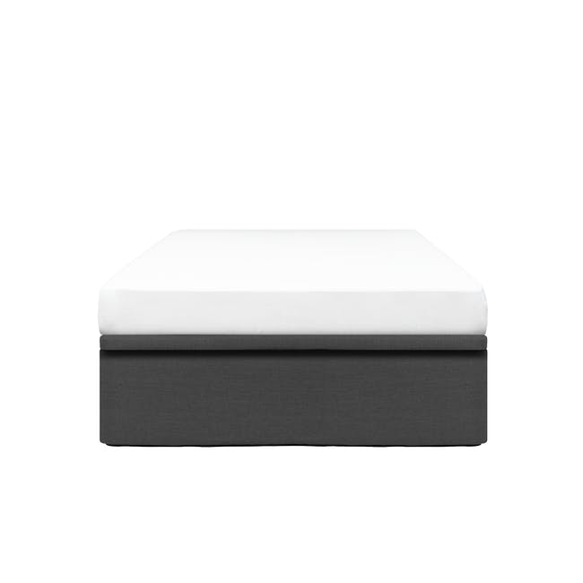 ESSENTIALS Super Single Storage Bed - Smoke (Fabric) - 0