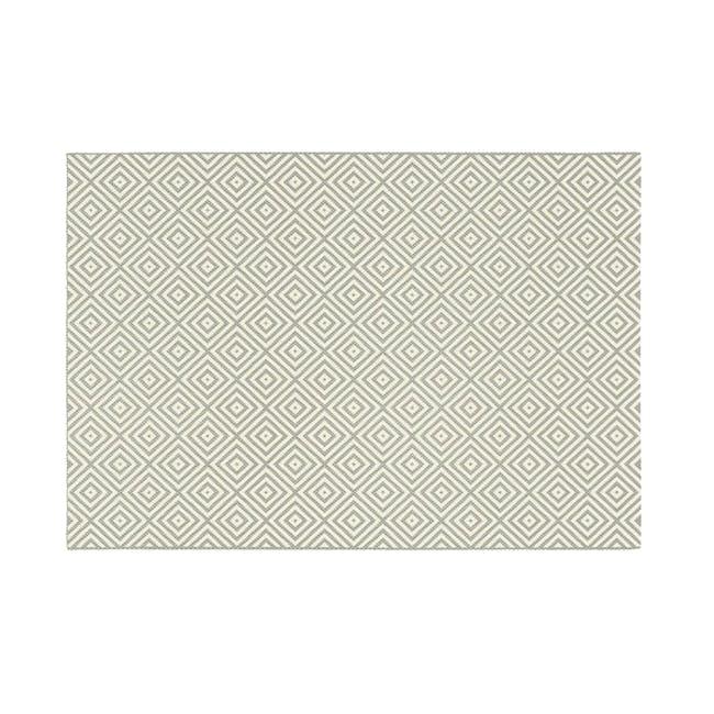 Essenza Flatwoven Rug 2.9m x 2m - Grey Diamonds - 0