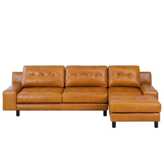 Wyatt L-Shaped Sofa - Butterscotch (Premium Waxed Leather) - 0