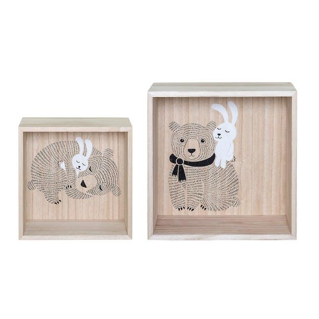Willow Display Box - Bear and Rabbit (Set of 2) - 1