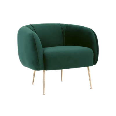 Alero Armchair - Dark Green (Velvet) - Image 2