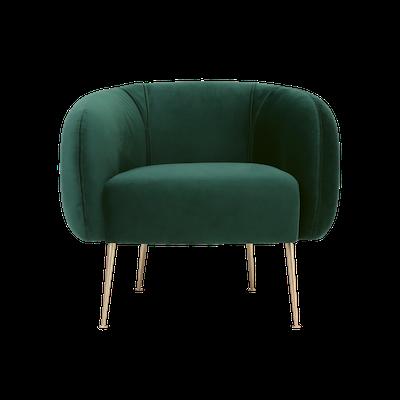 Alero Armchair - Dark Green (Velvet) - Image 1
