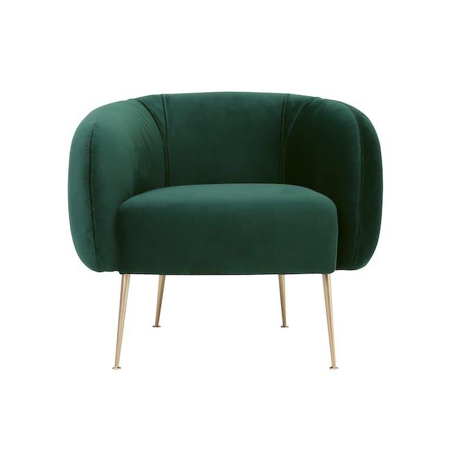 Alero 2 Seater Sofa with Alero Armchair - Dark Green - 1