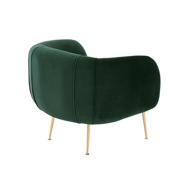 Alero 2 Seater Sofa with Alero Armchair - Dark Green - 4