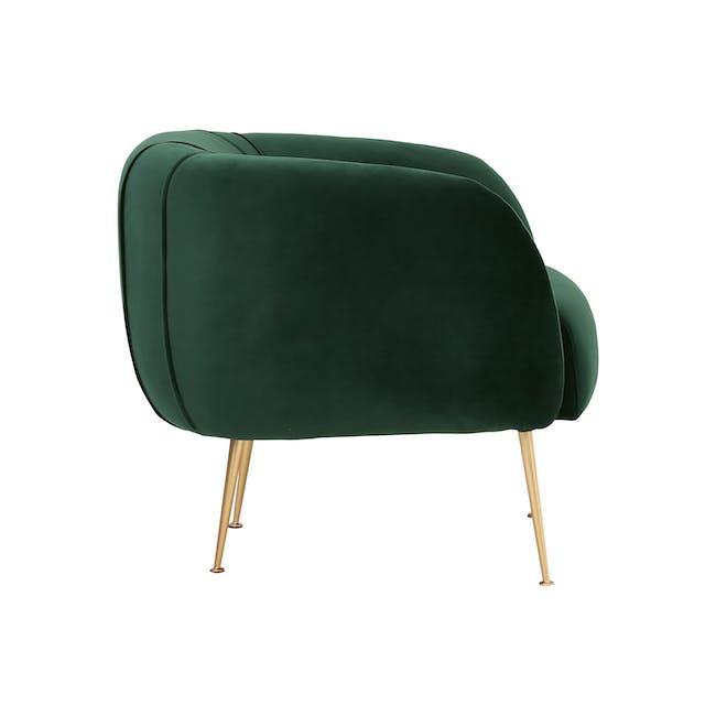 Sven 3 Seater Sofa with Alero in Dark Green (Velvet) - 9