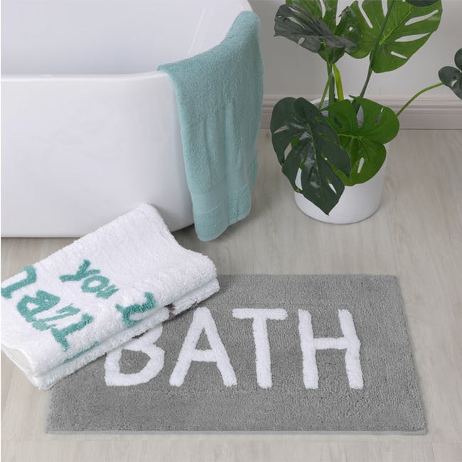 Sarah Floor Mat - Bath Grey - 1