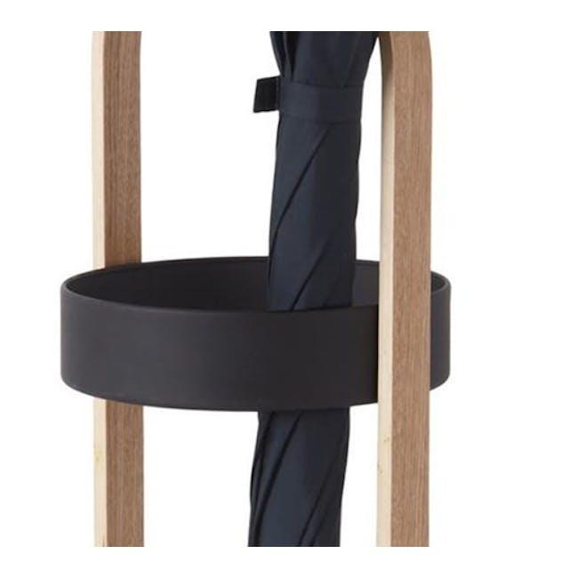 Hub Umbrella Stand - Black, Walnut - 3