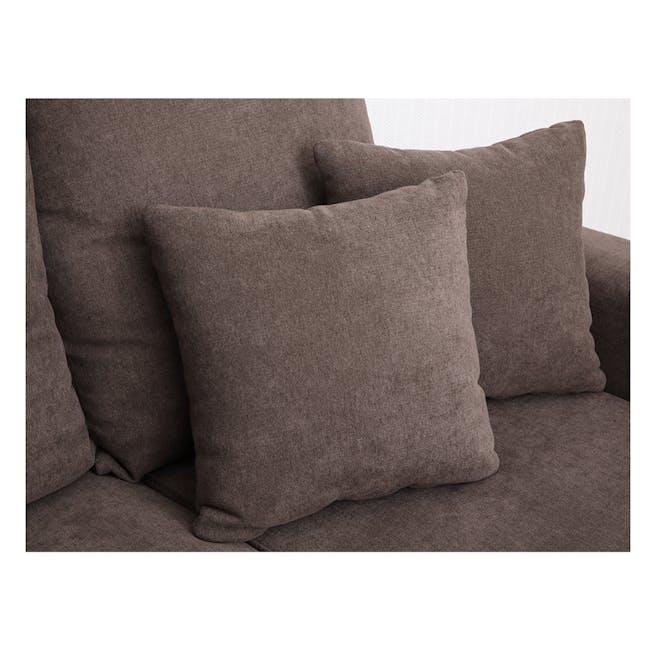 Rico L-Shaped Sofa - Brown - 4