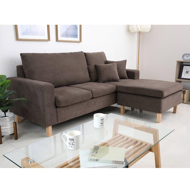 Rico L-Shaped Sofa - Brown - 1